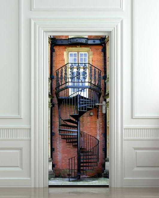 Door+STICKER+stair+flight+of+stairs+mural+decole+film+by+Wallnit,+$39.99