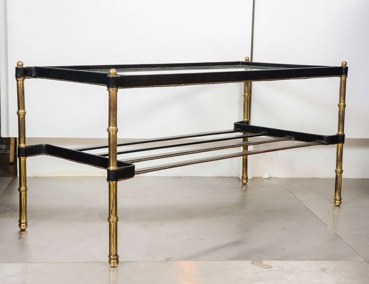 1950s Cocktail Table by Jaques Adnet | From a unique collection of antique and modern coffee and cocktail tables at https://www.1stdibs.com/furniture/tables/coffee-tables-cocktail-tables/