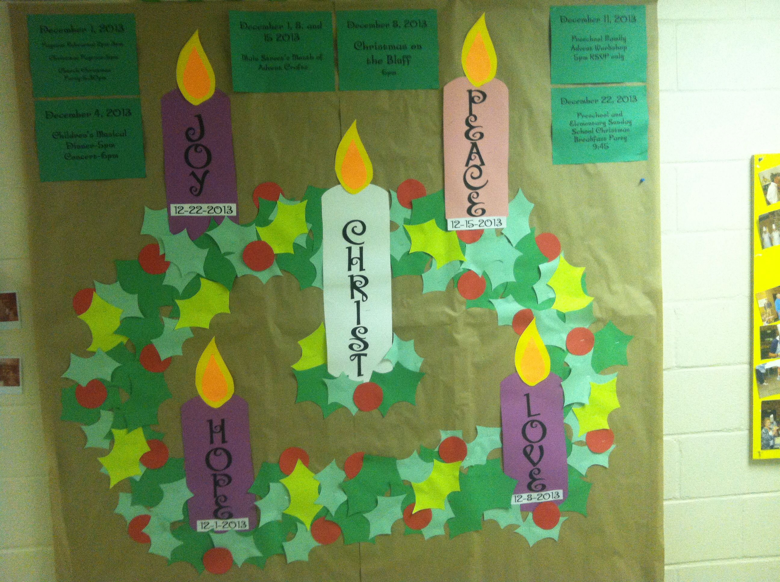Go green vegetable bulletin board idea myclassroomideas com - Advent Bulletin Board Made From Construction Paper