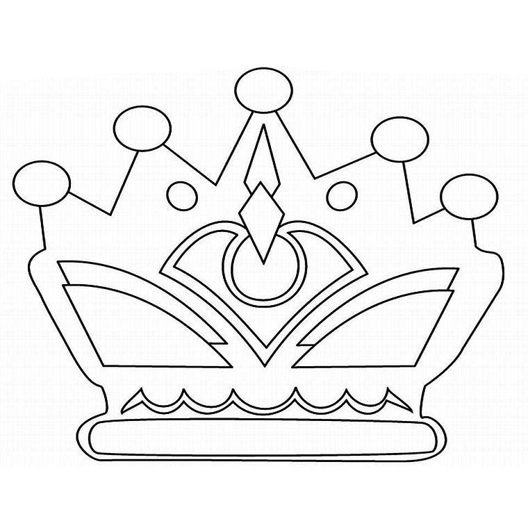Coloriage couronne des rois Coloriage   Carte graphisme vectorielle ...