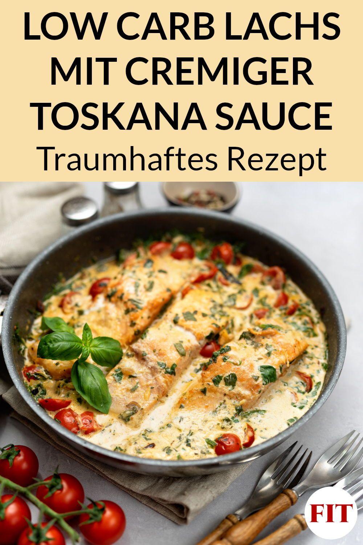 Toskana Lachs Rezept - Low Carb Gericht mit Fisch