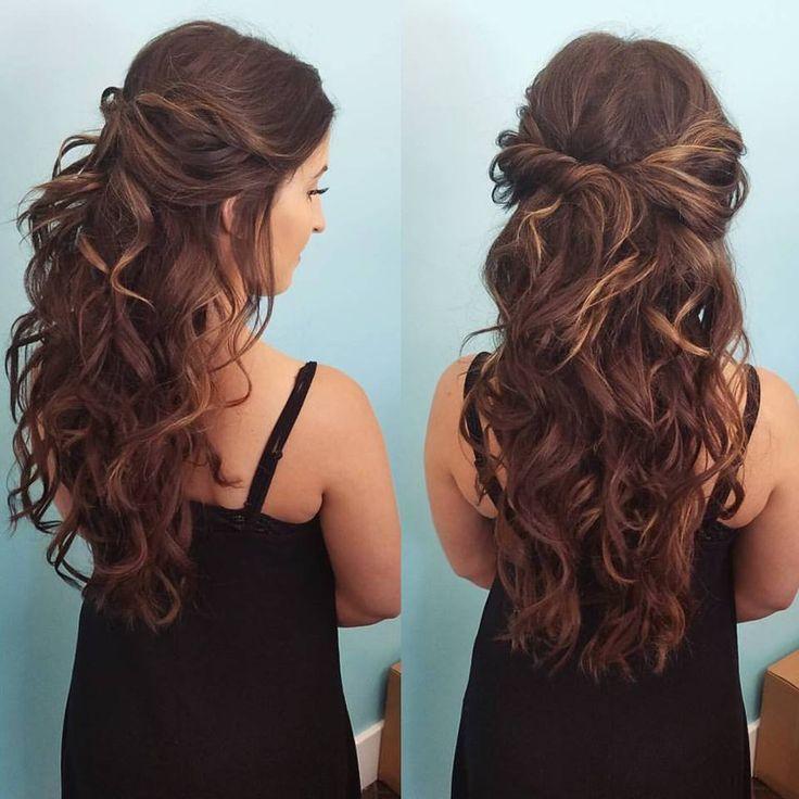 Half Up Half Down By Our Stylist Zenaida Beautybyzenaida In 2020 Hair Styles Wedding Hair Down Curly Hair Styles