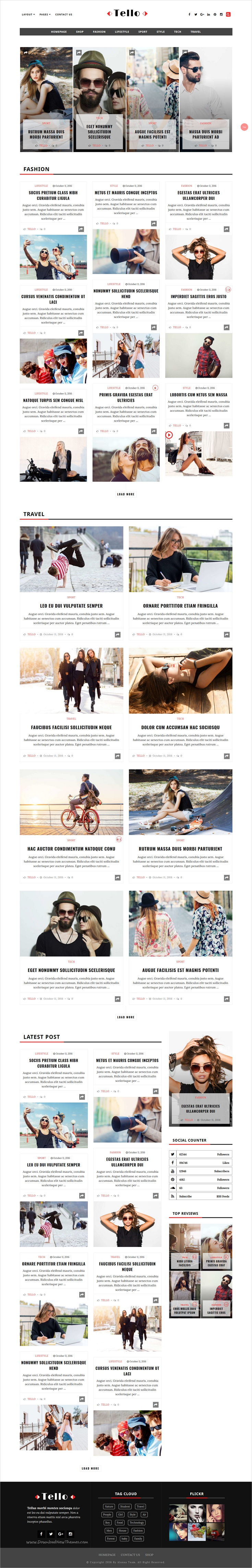 Tello is a wonderful responsive #WordPress theme best suited for #magazine, #news or #blog websites download now➩  https://themeforest.net/item/tello-wordpress-magazineblog-theme/19016157?ref=Datasata