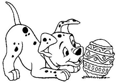 Transmissionpress Disney Easter Eggs Coloring Pages Dalmatian