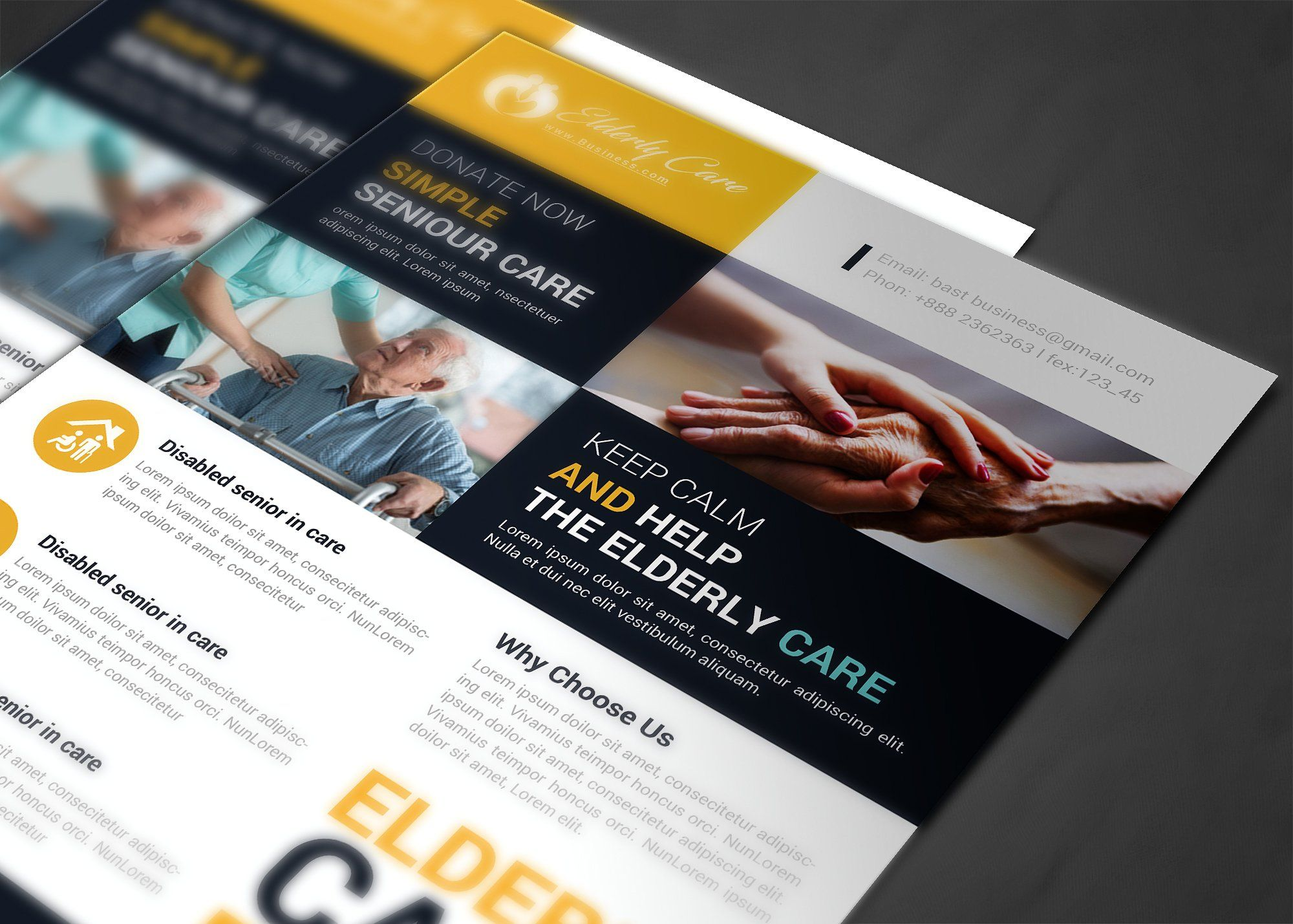 Elderly Care Flyer Template Elderly care, Understanding