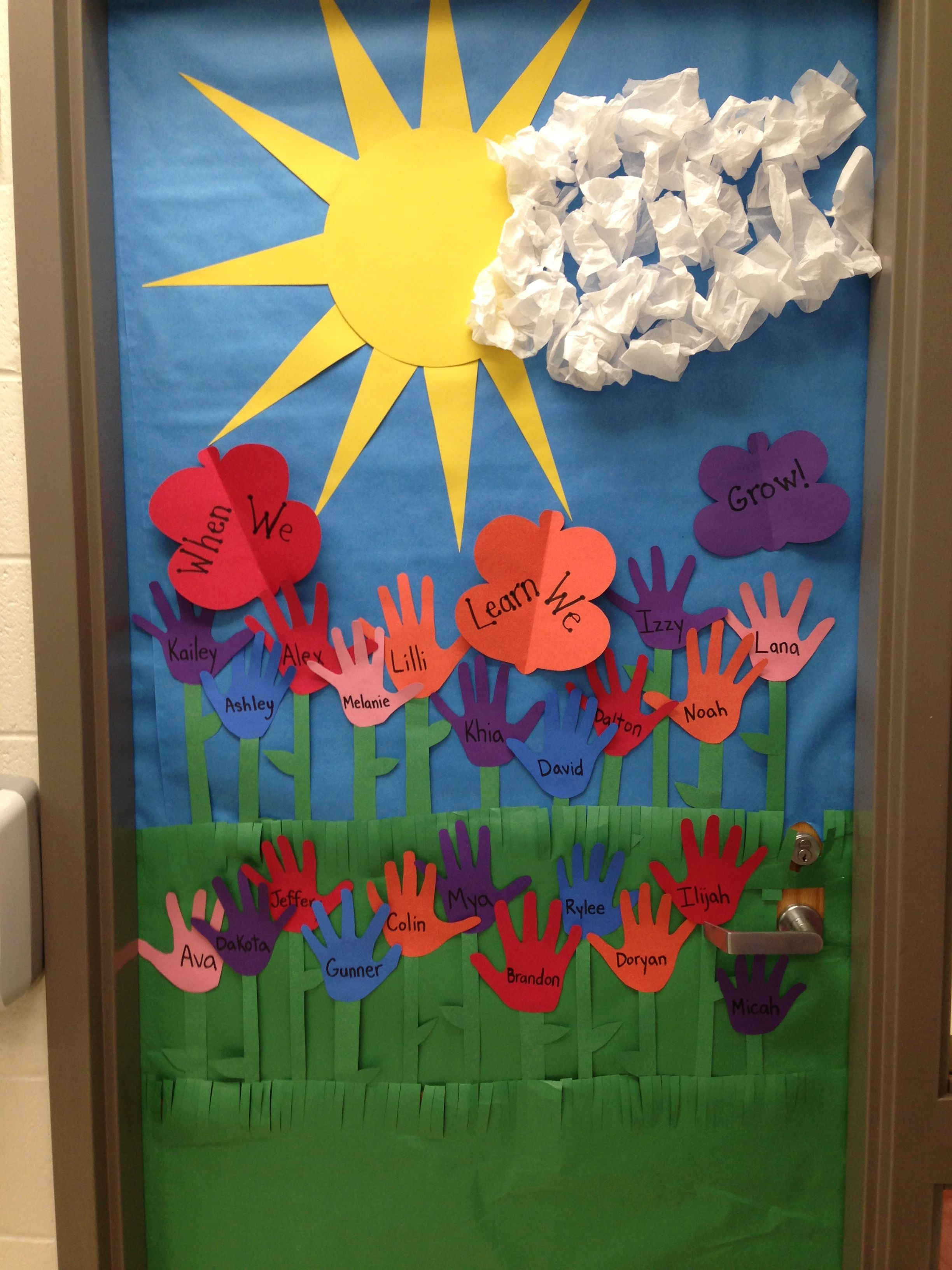 Classroom Window Decor : Spring door decoration i made crafts for kids