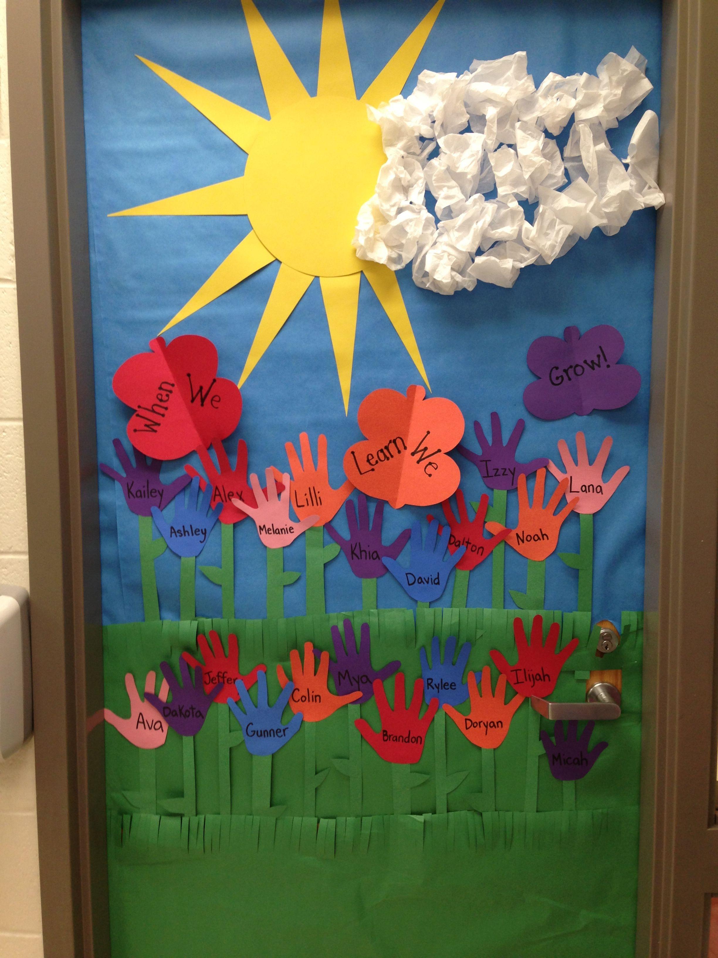 Spring Door Decoration I Made Crafts For Kids Pinterest