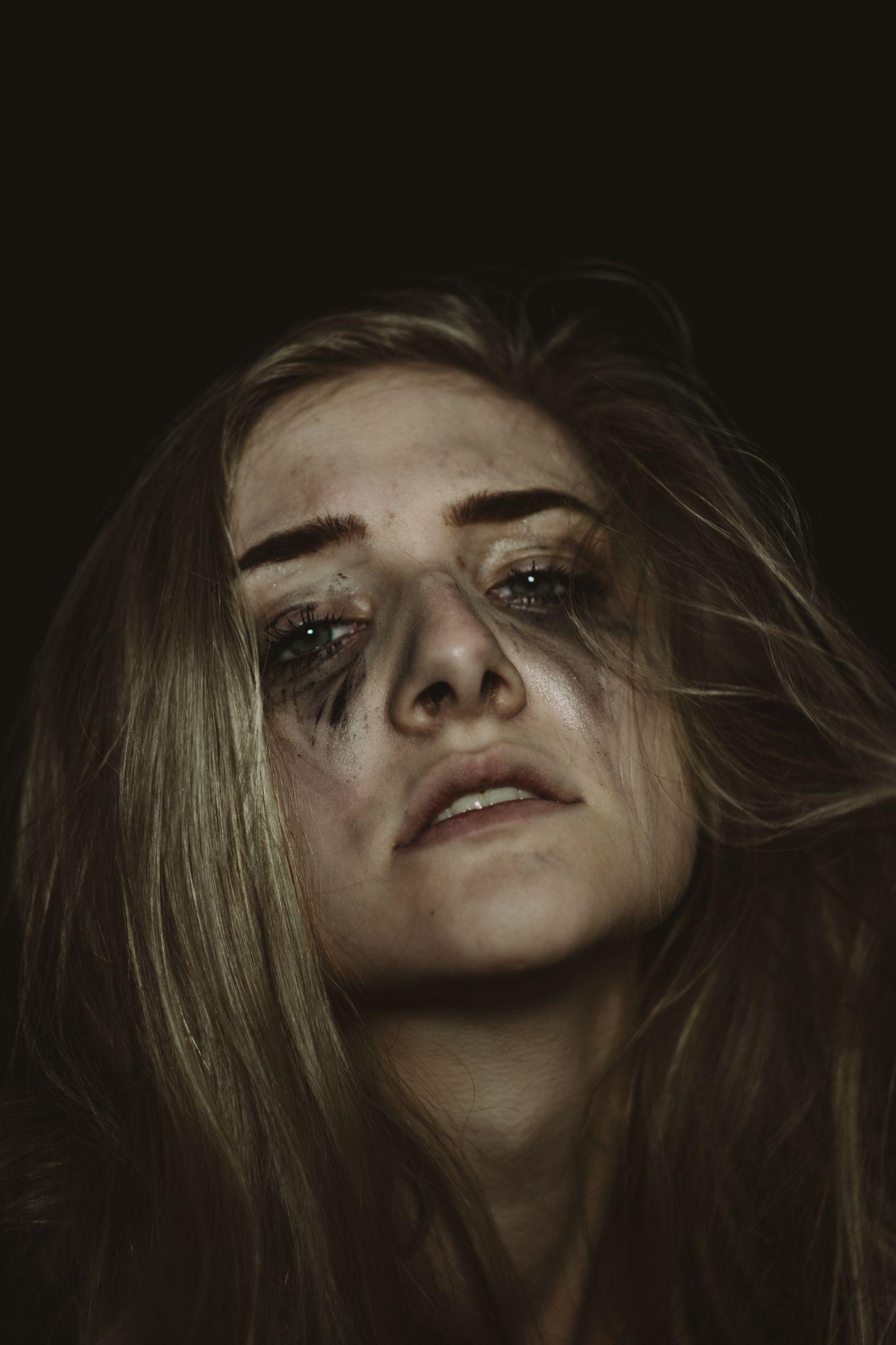 Sadness frustration senior girl portrait dark lxc loaf looks like film evan woods jessica whitaker andrew kearns photography portrait