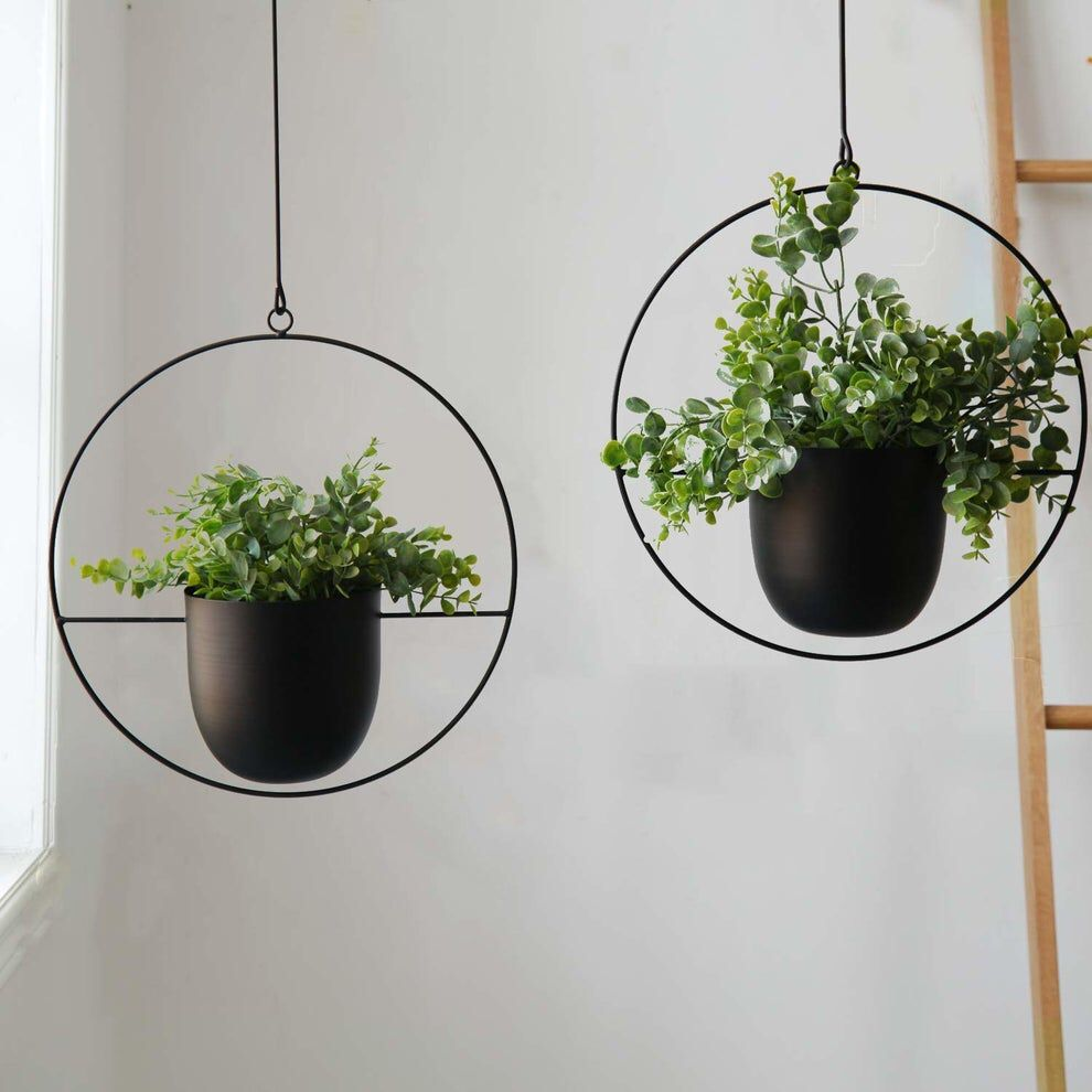 Pin By Maddy Ingram On Home In 2020 Metal Planters Metal Hanging Planters Hanging Plants
