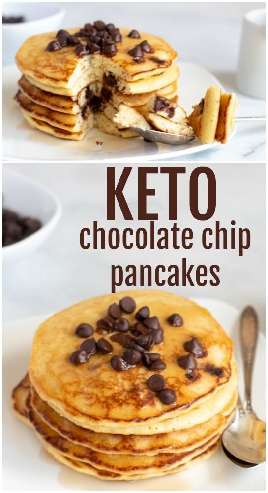 Chocolate Chip Keto Pancake Recipe | Everyday Ketogenic