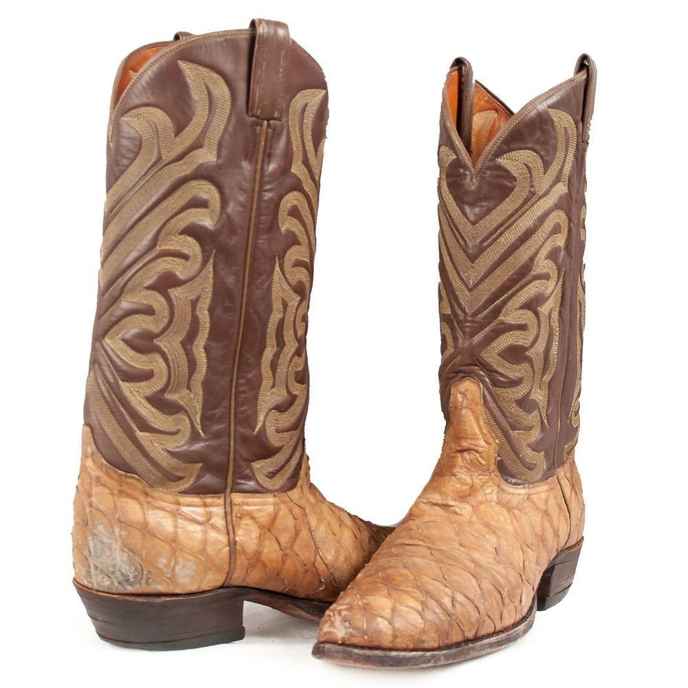 0894202b018 Tony Lama #Boots Anteater Vintage Western Cowboy El Rey Exotic Skin ...