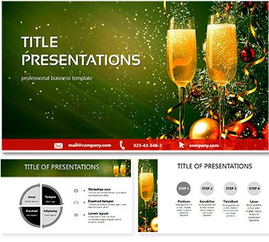 New Year night PowerPoint templates