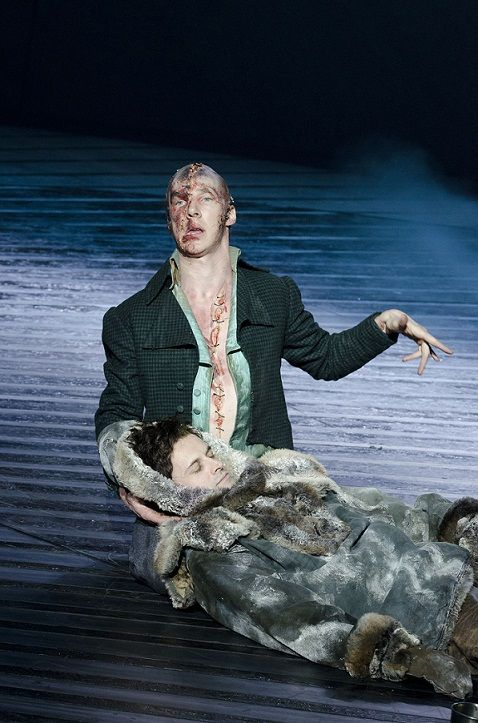 Benedict Cumberbatch and Jonny Lee Miller in Frankenstein