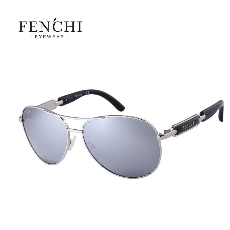 da889c4e4d FuzWeb Fenchi sunglasses women metal hot rays glasses driver pilot mirror  fashion men design new colourful sunglasses high quality
