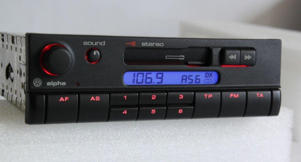 vw alpha cc cassette radio head unit vw golf passat vento polo mk3 6x0035153 vw vintage car. Black Bedroom Furniture Sets. Home Design Ideas
