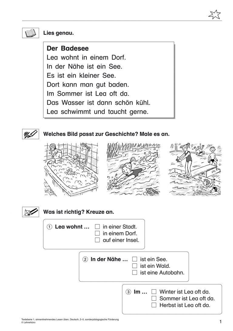 Arbeitsblätter Kostenlos Deutsch 1 Klasse Arbeitsblätter