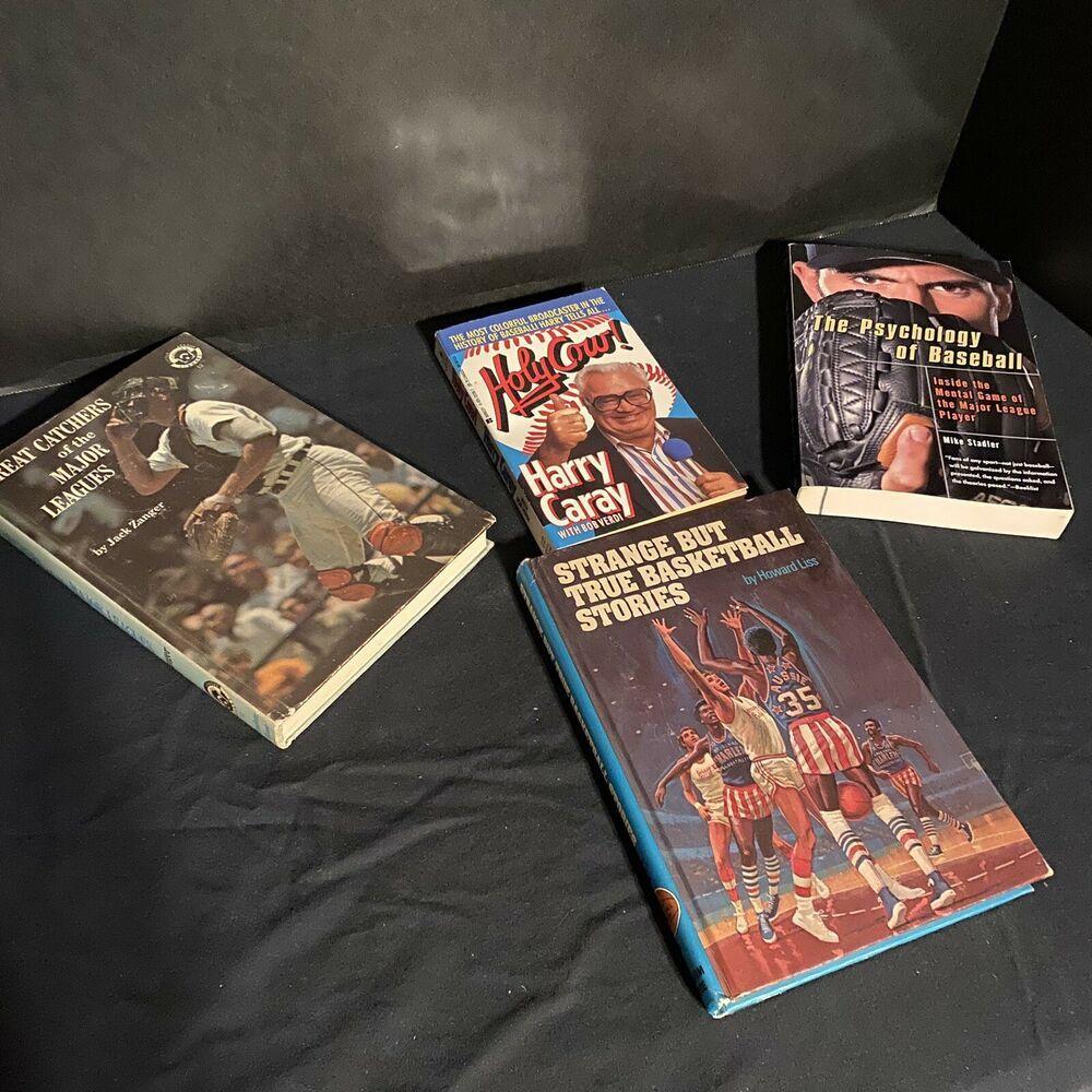 Sports Books Lot Of 4 Baseball Basketball Harry Caray