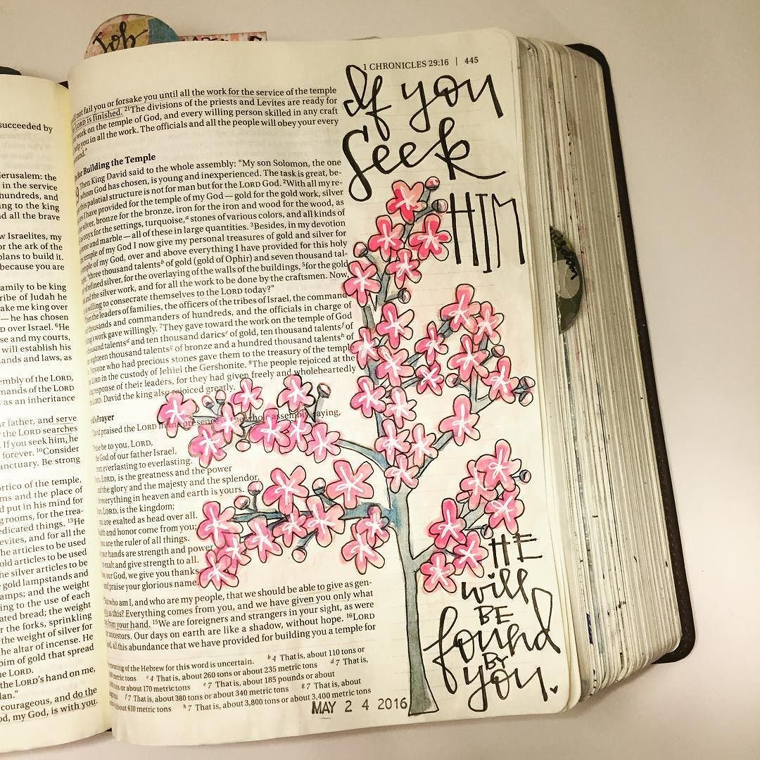 I am loving 1 Chronicles and am sad I'm almost done with it. So many sweet little nuggets of encouragement tucked away in a wonderful collection of genealogy and records. #1chronicles #familytrees  ##illustratedfaith #illustratedfaithdaily2016 #illustratedfaithcommunity #biblejournaling #biblejournalingcommunity #journalingbible #journalingbiblecommunity #illustration #watercolor #handlettered #moderncalligraphy #uniballsigno #familytree #seekgod #japanesecherryblossom #tree #cherryblossom…