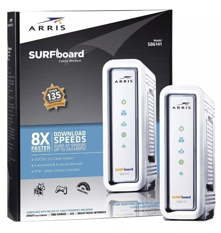 ARRIS SURFboard SB6141 DOCSIS 3.0 Cable Modem NEW SEALED Motorola ...