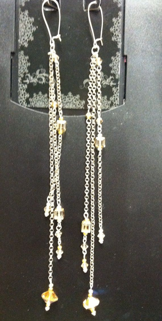 Gold Shoulder Duster Earrings by BUNNY123 on Etsy, $18.00