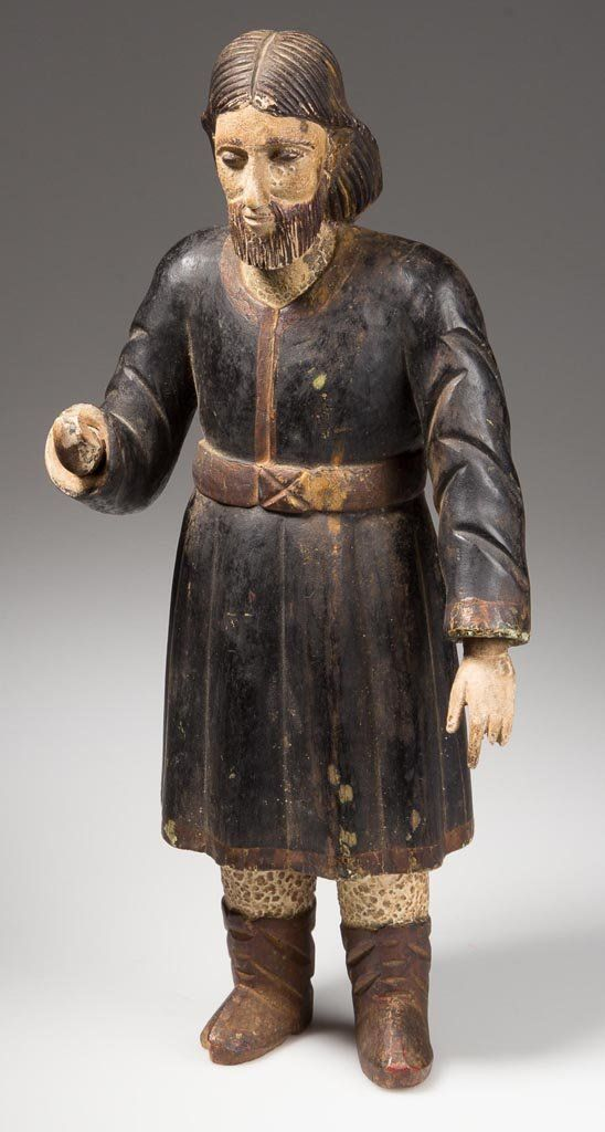 cad9a2706ef40 CARVED AND PAINTED RELIGIOUS FIGURE