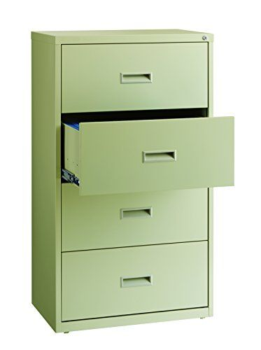 Beau Office Dimensions Commercial 4 Drawer Lateral File Cabinet, 30 Inch Wide    Putty