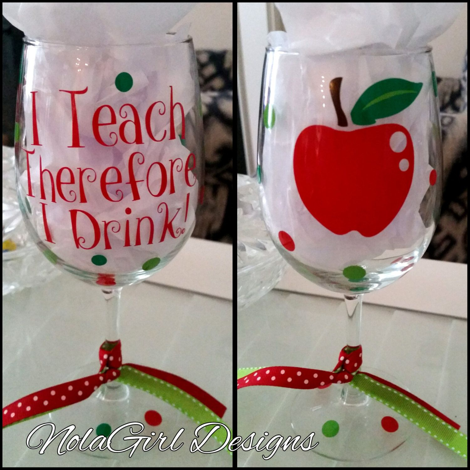 Teacher Wine Glass I Teach Therefore I Drink Wine Glass Apple Wine Glass Vinyl Decorated Glass Apple Gift Lad Teacher Wine Glass Wine Teacher Wine Gifts