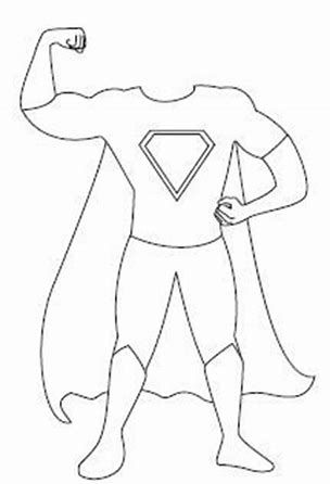 Image result for Blank Superhero Template 2 yr olds Pinterest - blank puzzle template