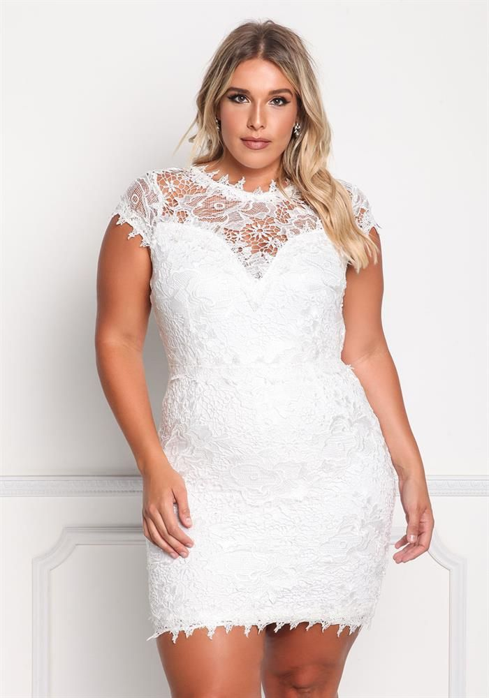 Plus Size Floral Lace Sweetheart Dress 74 95 Plus Size Bridal