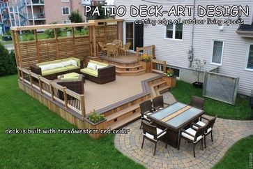 Trex Deck Designs Patio Deck Art Decks Patios Outdoor Enclosures