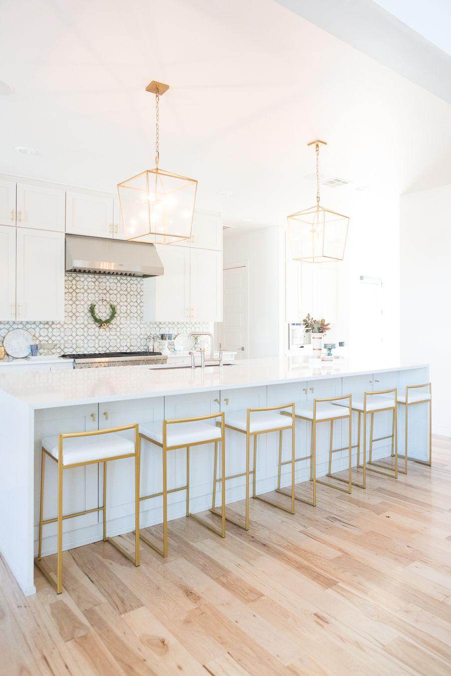 10 Affordable Gold Bar Stools For Home Design White Modern Kitchen Home Decor Kitchen White Kitchen Design