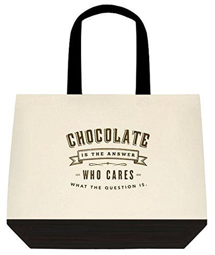 Chocolate is the answer who cares what the question is large chocolate is the answer who cares what the question is large shoulder canvas tote bag urtaz Images