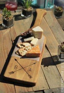 Diy Rustic Personalized Wood Cutting Board Pinterest Wood