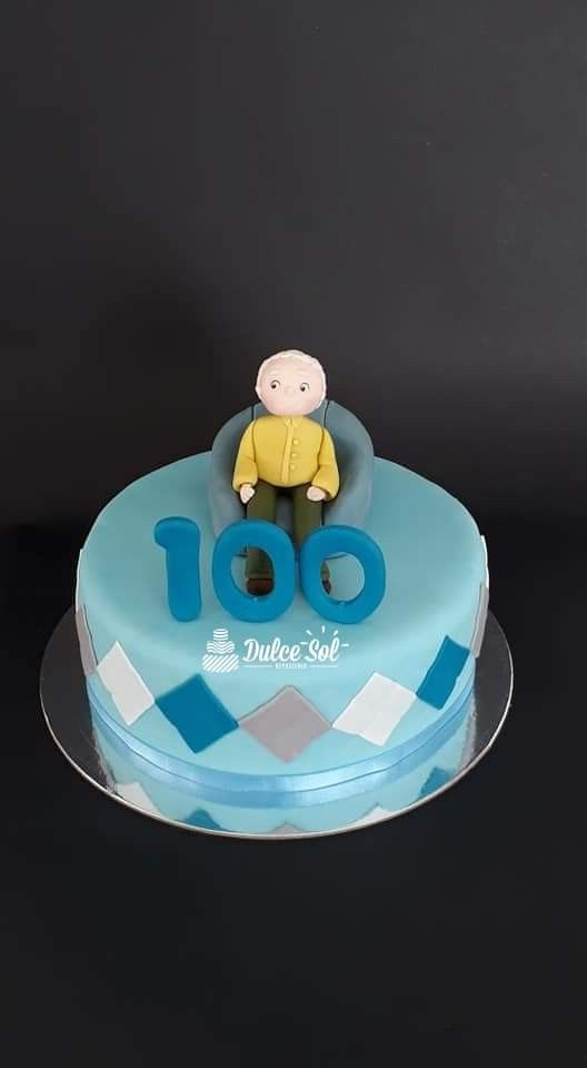 Torta de chocolate. Modelo abuelo 100 años