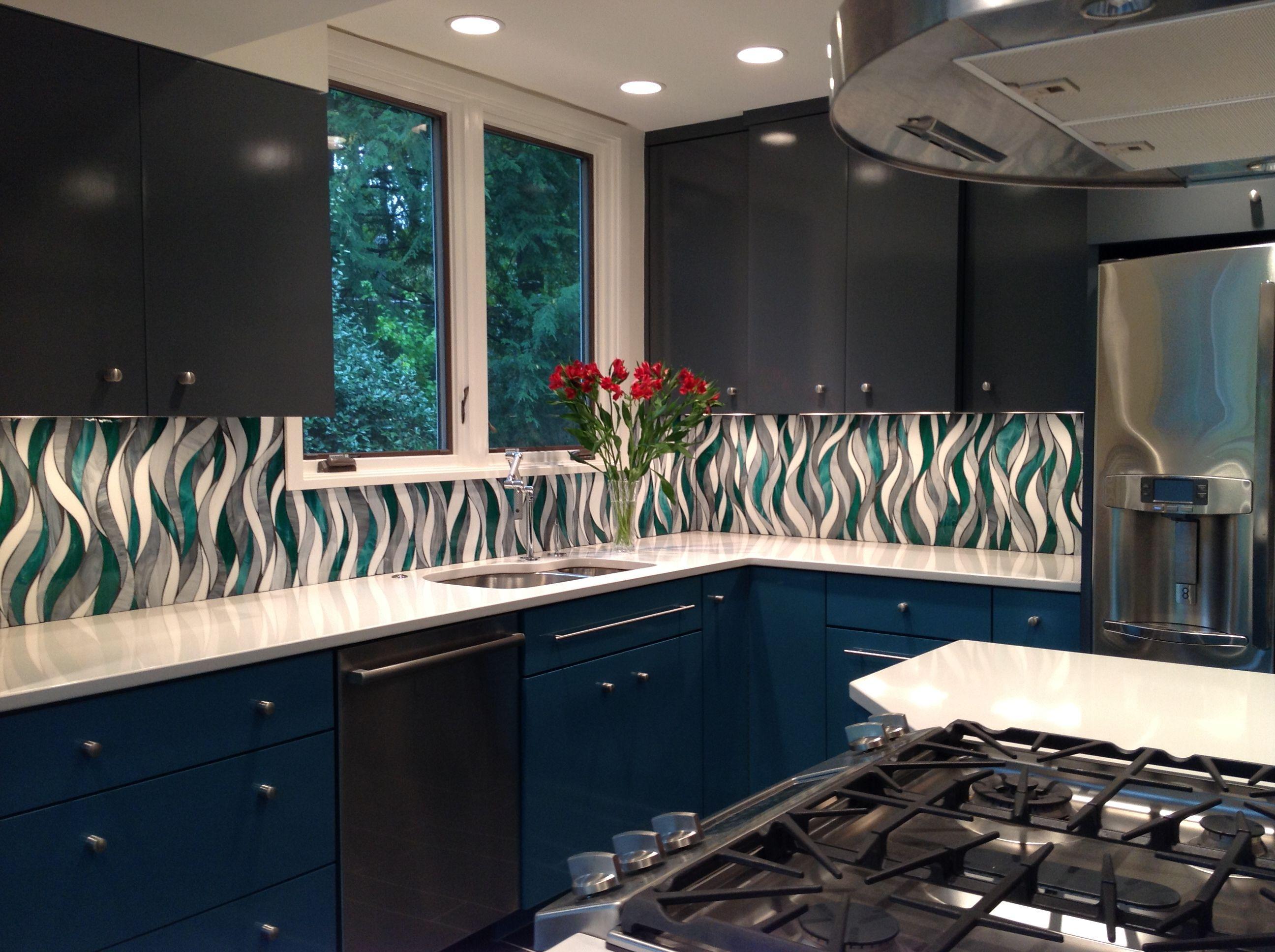 Custom Glass Backsplash Www Architecturalceramics Com Decoracao Detalhes