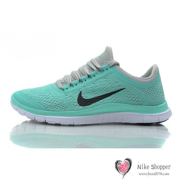 nike free gray and mint