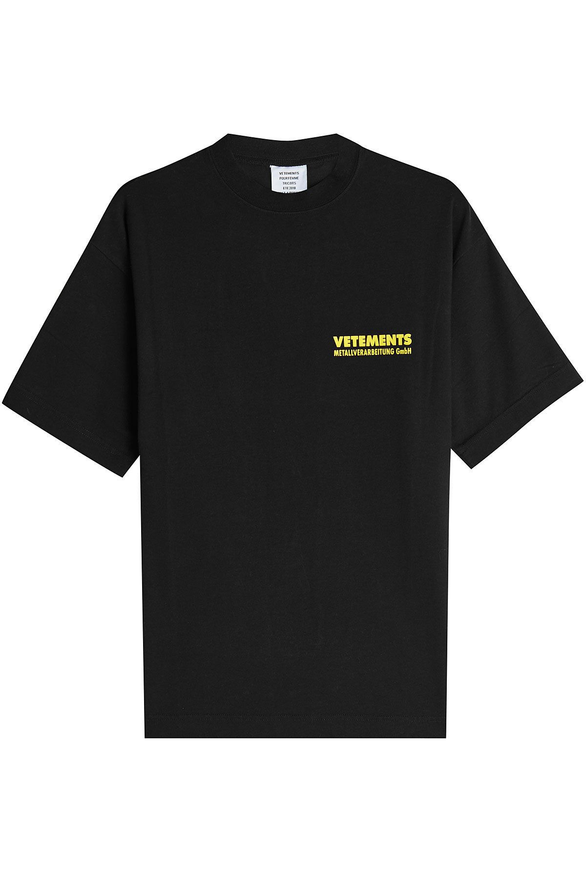 Vetements Printed Cotton T Shirt Vetements Cloth Vetements In