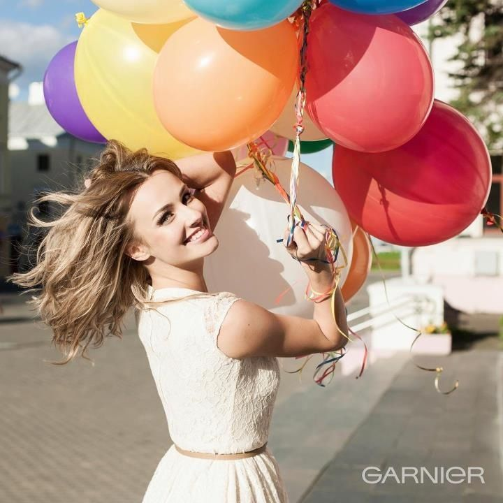 Photo with balloons<3