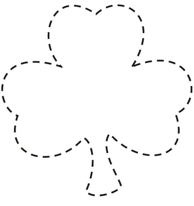 dibujo trebol - Buscar con Google   Flores y hojas   Pinterest ...