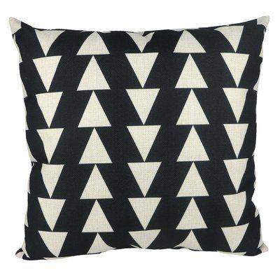 Pal Fabric Geometric Square Throw Pillow