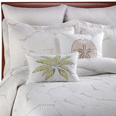 """Island Leaves Twin Quilt - Bed Bath & Beyond Twin quilt measures 66"""" W x 86"""" L."""
