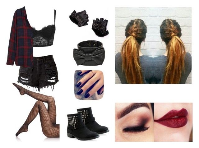 """Plaid"" by thekatie93 ❤ liked on Polyvore featuring Wolford, Forever 21, Rails, Aéropostale, RED Valentino, Skingraft and Lottie"