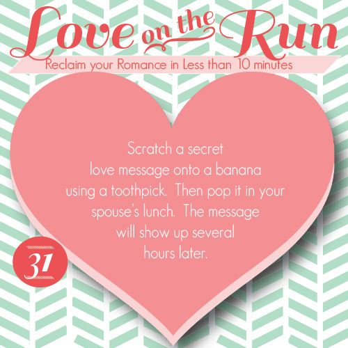 Create a secret love-themed message on a banana! www.TheDatingDivas.com #lovenote #loveontherun #marriage