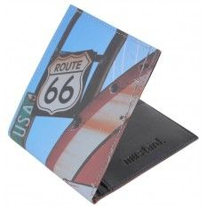 Mustard Route 66 Wallet - Black/Blue