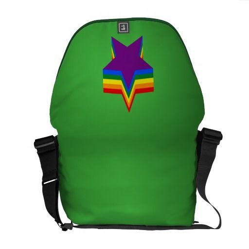 Rainbow pride stars Messenger Bag Messenger Bag