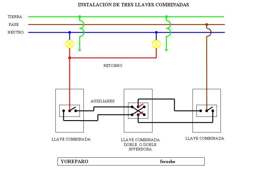Solucionado Combinar Mas De 2 Interruptores Combinados Para Una Bombilla Electricid Diagrama De Instalacion Electrica Electricidad Generadores Electricos