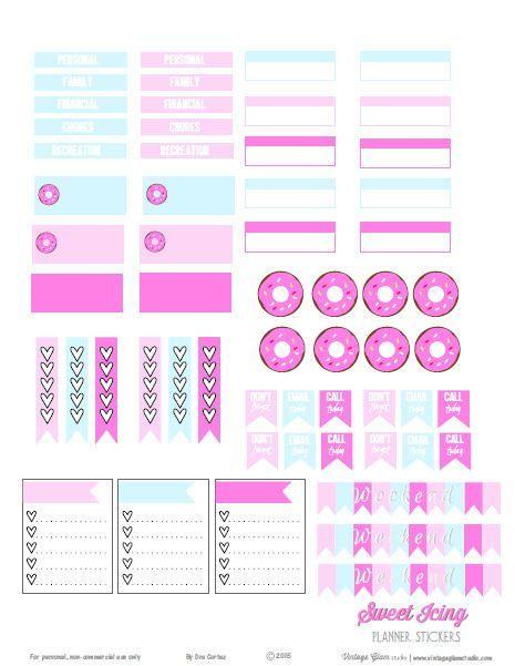 Sweet icing planner stickers free printable download vintage glam studio