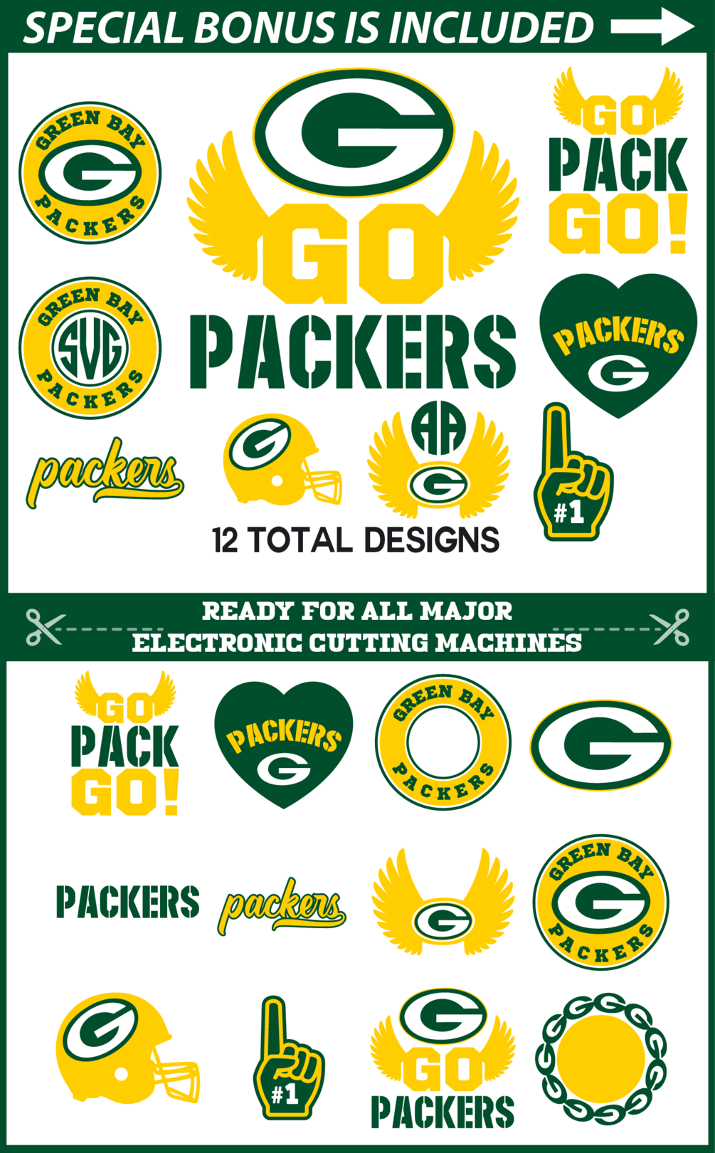 You Will Receive 12 Svg Files 12 Png Files 1 Dxf File Join Our Facebook Group Green Bay Packers Logo Green Bay Packers Crafts Green Bay Packers Diy
