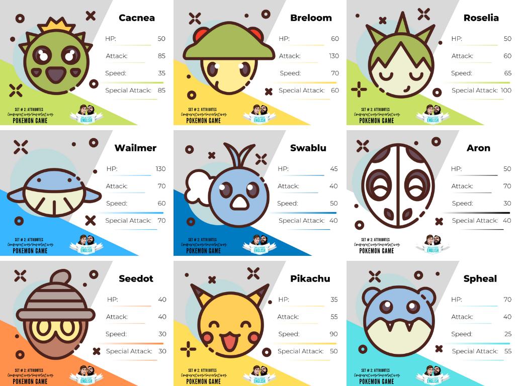 4 Great Free Esl Pokemon Activities Card Games