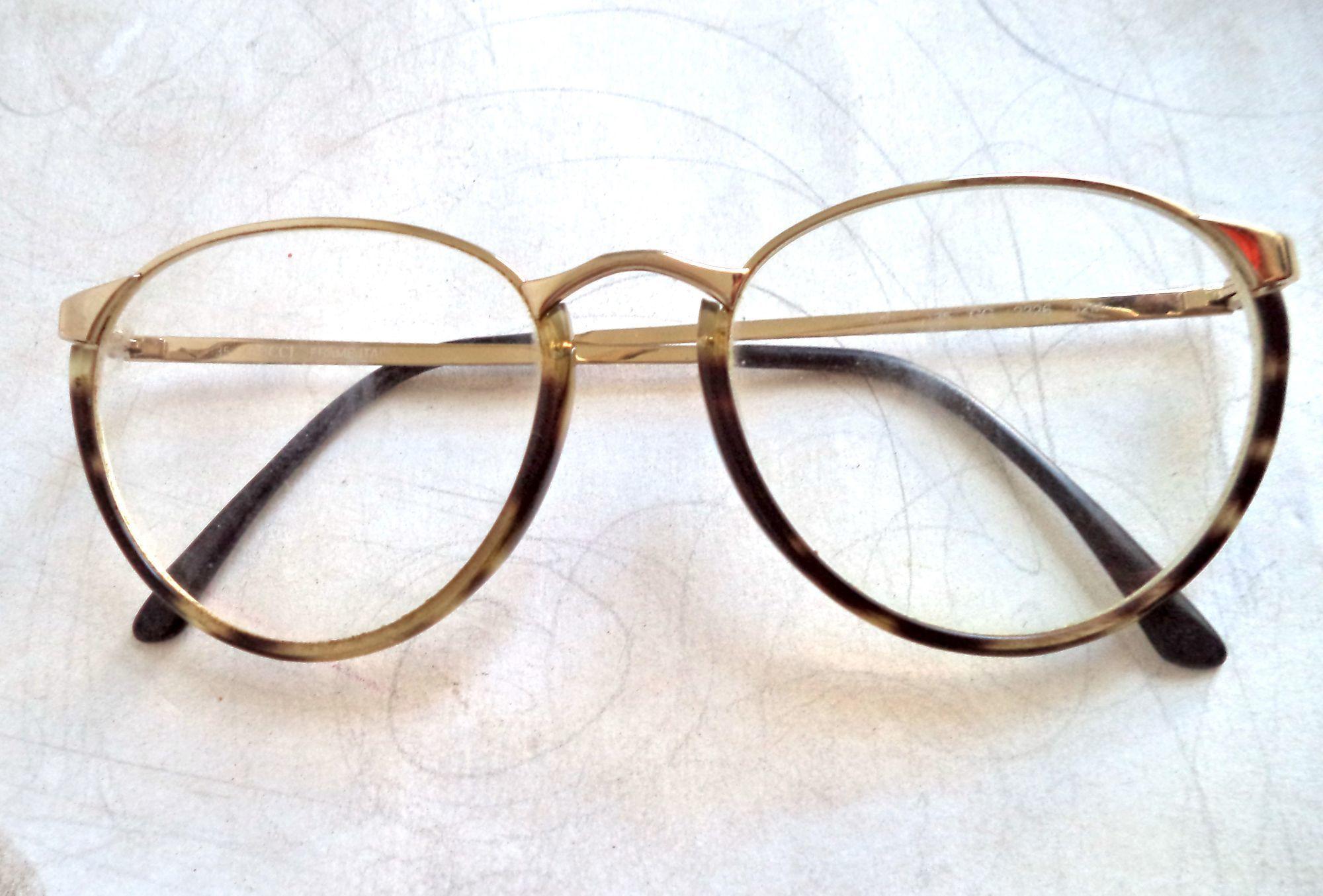 275649960f64 Gucci Model 2326 Round Tortoise Gold Womens Eyeglasses 52-17 Sunglasses Vtg  80s